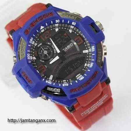 jam tangan g shock GA1000 warna biru merah