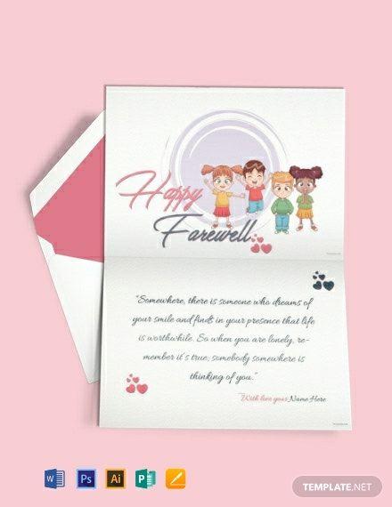 happy farewell invitation card template free pdf  word