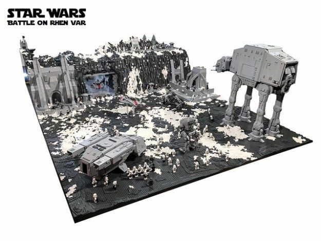 Battle on Rhen Var from Star Wars: Battlefront recreated with 250,000 LEGO bricks | The Brothers Brick | LEGO Blog (Favorite Meme Star Wars)
