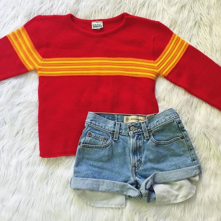 Retro dreams come true  this #90s sweater and these perfect Levi's cutoffs just hit our #vintage section -- don't miss out on one-of-a-kind finds!