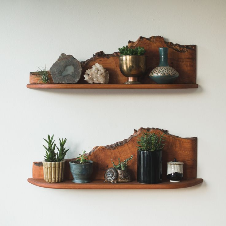 Live edge shelf.
