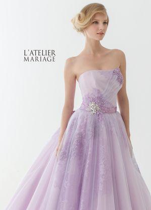 大人っぽいエレガントなラベンダーパープルのドレスにはキラキラビジューをつけて♪ビジューを取り入れたカラードレスまとめ一覧♡