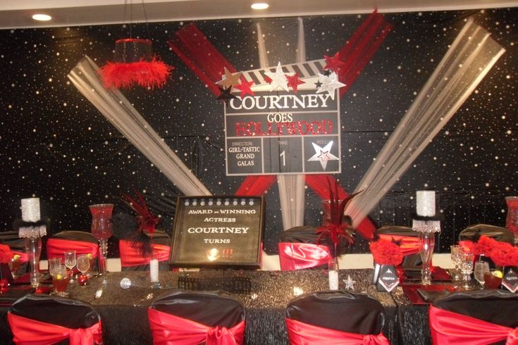 Hollywood Theme Birthday Party Banquet Ideas Pinterest