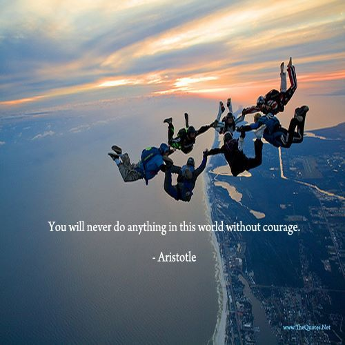 You will never do anything in this world without courage. It is the greatest quality of the mind next to honor. - Aristotle  http://TheQuotes.Net - http://ift.tt/1HQJd81