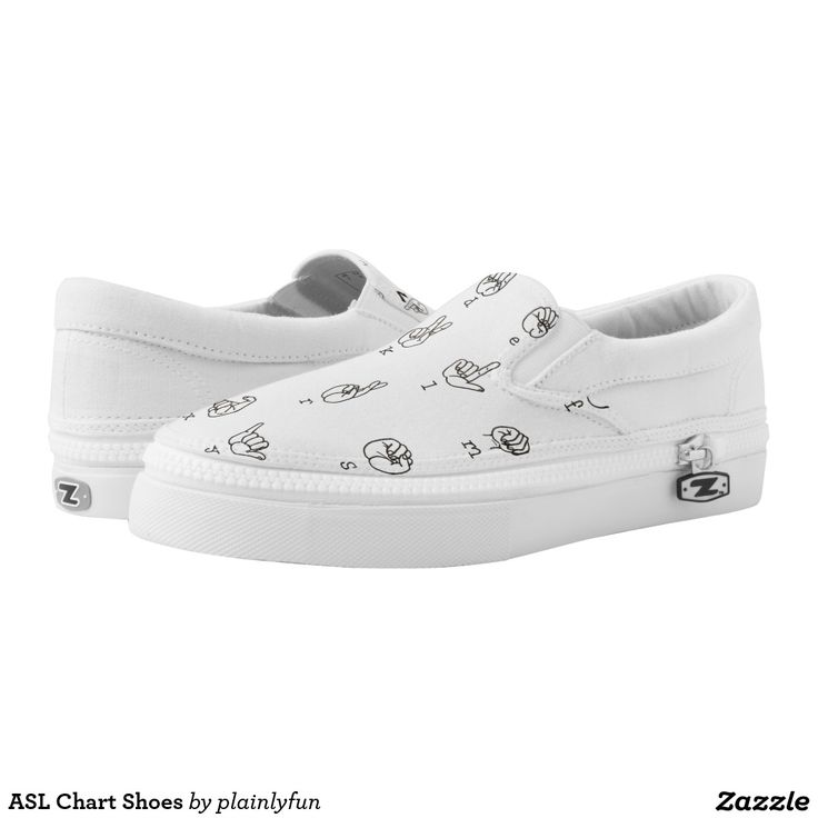 ASL Chart Shoes Printed Shoes