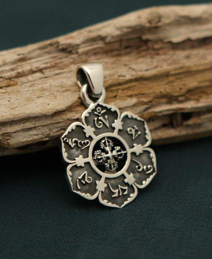 302 best spiritual jewelry images on pinterest spiritual jewelry om mani padme hum lotus pendant sterling silver mozeypictures Choice Image