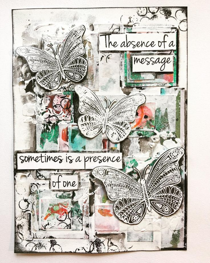 "246 gilla-markeringar, 13 kommentarer - Melina Dahl  (@minaskreativa) på Instagram: ""Art journal page made from #gelliprint scrap pieces, stamps and stencils from @thatscraftyuk and…"""