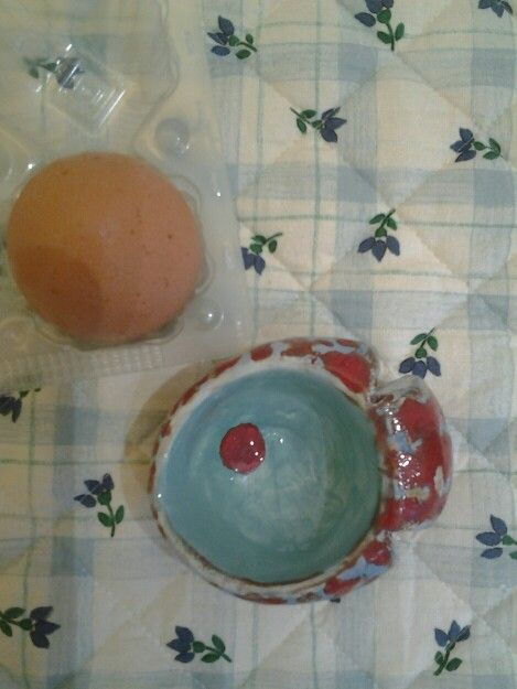Clay, egg cup, fish, diy