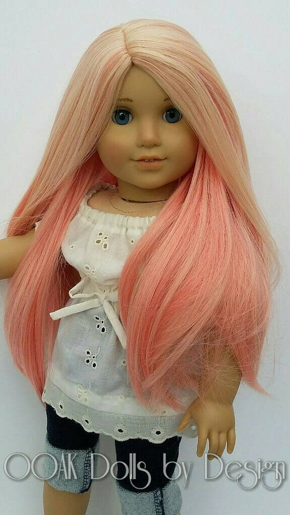 Ooak Custom American Girl Doll Wig Strawberry by OOAKDollsbyDesign