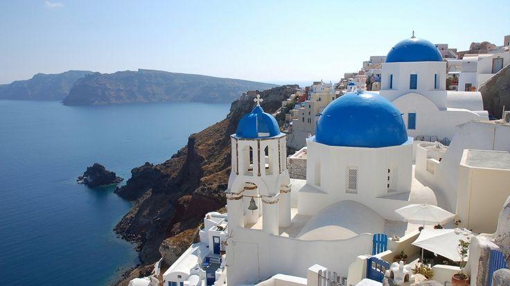 Amazing Greece 1366x768 wallpaper