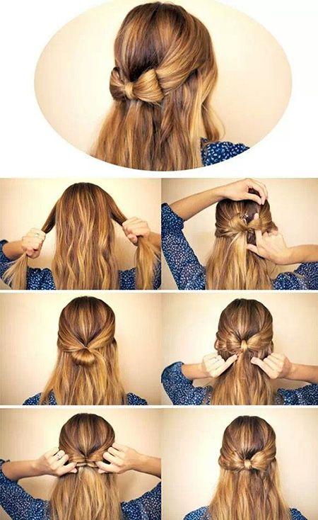 Roue à aubes coiffure pour ramasser ces cheveux de femme blonde