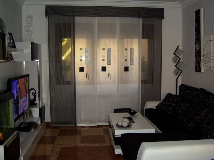 Muebles de salon a sof negro sof s y salones - Muebles salon originales ...