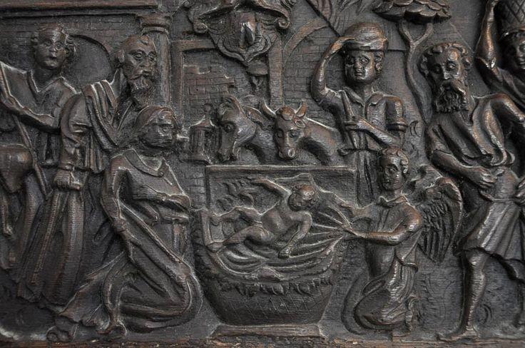 винтажный каминный портал из дуба