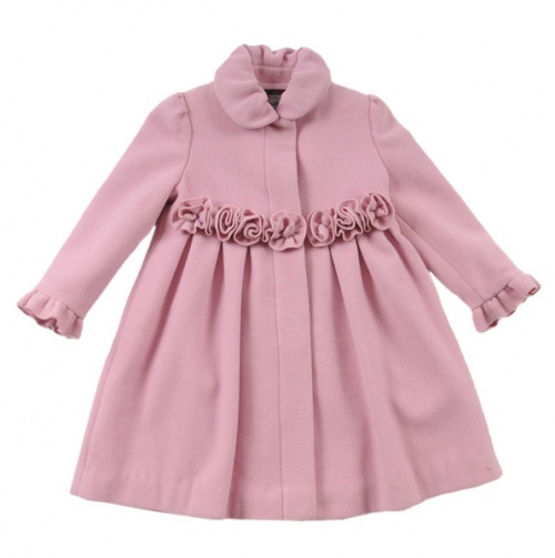 I want Lilly to come and wear this haha Girls Rosette Front Wool Coat