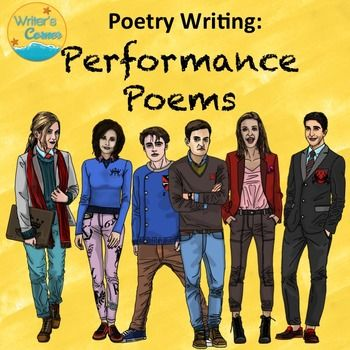 Poetry Writing! Performance Poetry, Substitute Plan, Oral