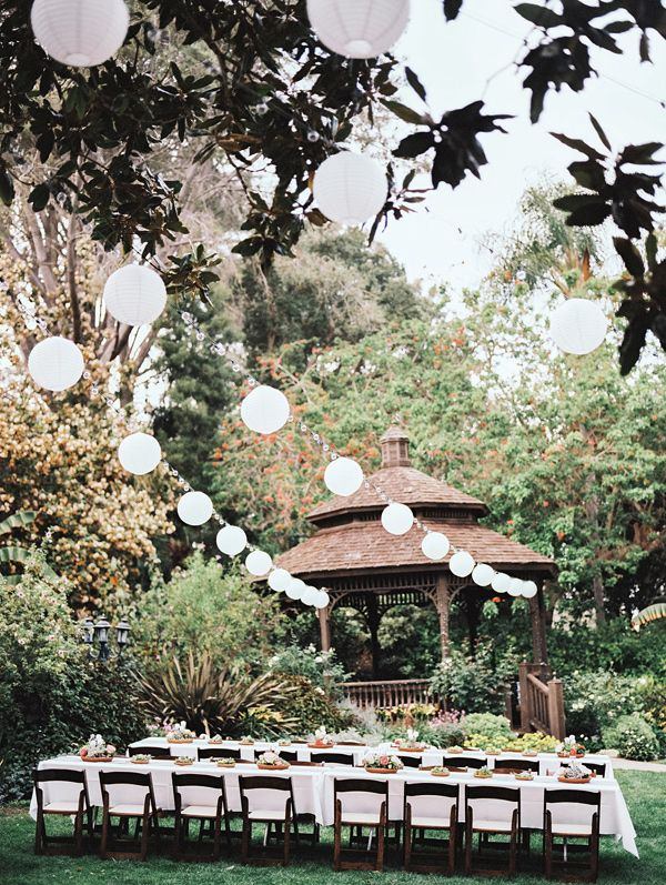 garden wedding reception, photo by Allie Lindsey Photography http://ruffledblog.com/san-diego-botanic-garden-wedding