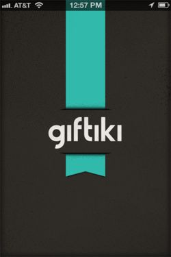 Giftiki - Launch screen