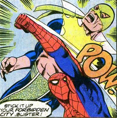 Marvel Team Up: spider-man hits steel serpent