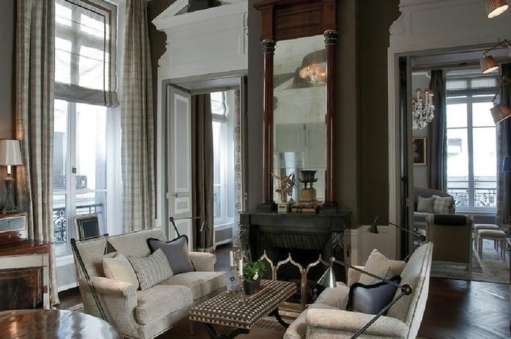 JL Deniot - Paris Rue Des Saints-Peres Living Room.: Decor, Paris Apartment, Street, Living Rooms, Parisians Chic, Jeans Louise, Interiors, Jeans Louis Deniot, Jeanloui Deniot