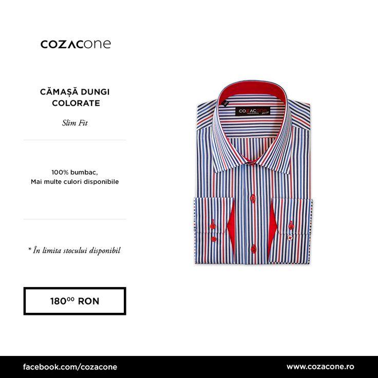 O cămașă cu dungi colorate nu îți lasă ținutele să alunece în banalitate: http://www.cozacone.ro/produse/detalii/camasa-dungi-colorate/