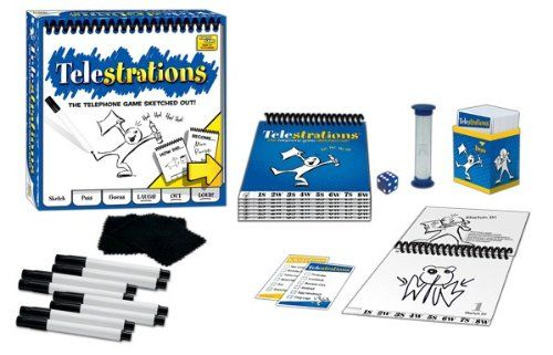 Telestrations – it's like telephone meets pictionary