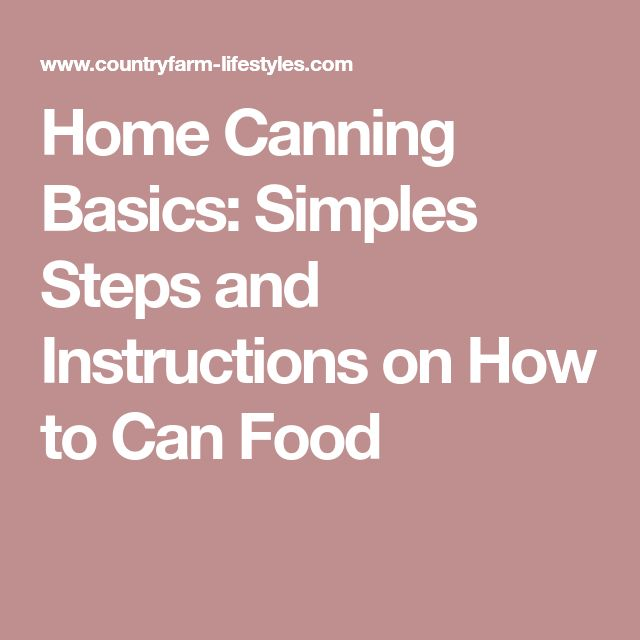 Home Canning Basics: Simples Steps and Instructions on How to Can Food