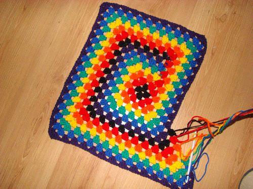 never ending granny square pattern