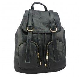 Genuine Leather Women Designer Large Backpack Black School Casual Travel Shoulder Bag BC-1160