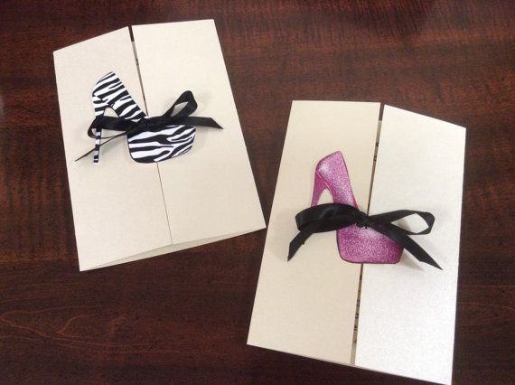 Invitations with High Heel for Bachelorette by OneChelleOfAMug