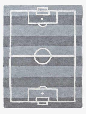 Fußballteppich für Kinder von Vertbaudet in grau gestreift - Nur € 2,95 Versand! Kinderzimmer jetzt bei Vertbaudet bestellen!