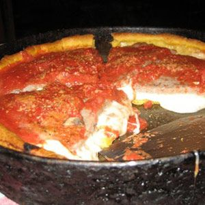 Chicago's famous deep dish from Gino's East