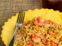 Spicy Cajun Shrimp with Onions, Peppers and Orzo-01