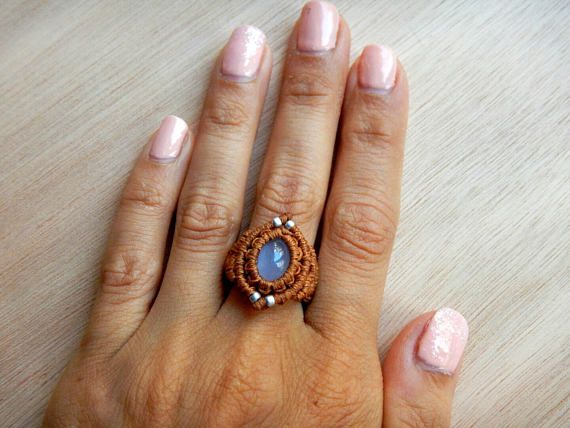 Hey, I found this really awesome Etsy listing at https://www.etsy.com/listing/520659488/macrame-ring-macrame-jewelry-ring-with