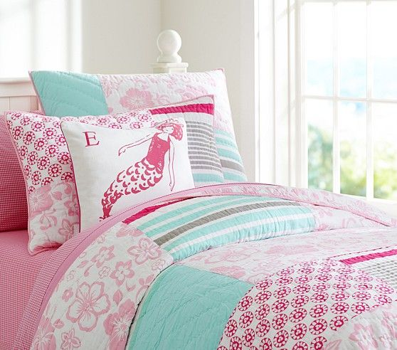 Surf Patch Quilted Bedding Pottery Barn Kids Girl S