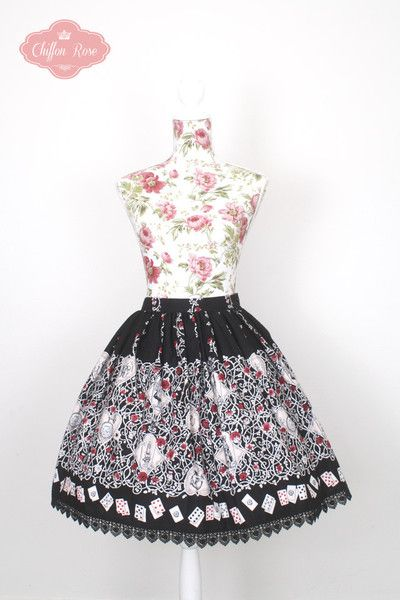 Alice and the Pirates Beardsley Rose Skirt