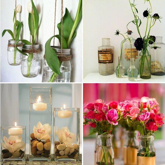 Como decorar frasco de vidrios con velas buscar con - Botellas con velas ...