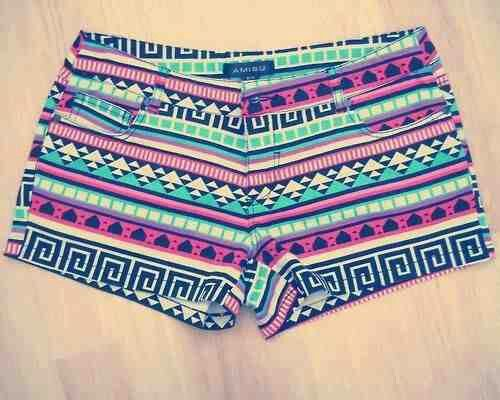 Colorful Tribal Shorts. Love These With A Passion!! Teen Fashion. By-Iheartfashion14♥ →follow←