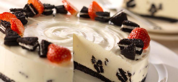 Philadelphia Vanilje cheesecake med Oreo
