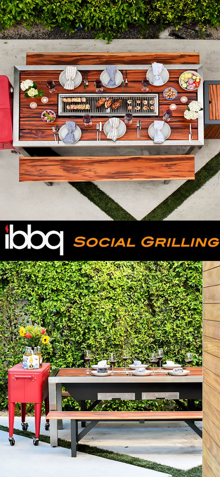Cute Table Setting For Your Outside Barbecue Ibbq Socialgrilling Outdoor Bbq Grill Modern Outdoor Dining Table Outdoor Bbq