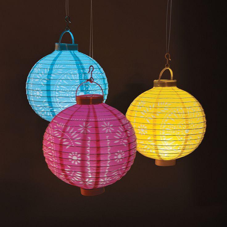 Light-Up Fiesta Cutout Paper Lanterns - Oriental Trading