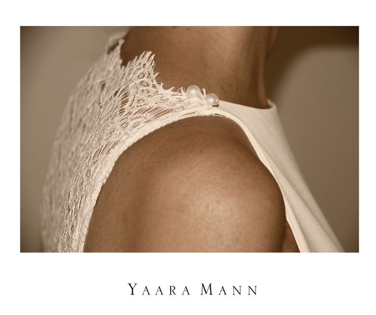 """""""Perle"""" wedding dress from Yaara Mann's collection 2014 Solstiss lace in the back Shipping free! Visit the site www.yaaramann.com"""