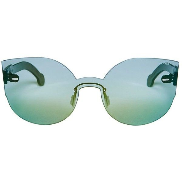 SUPER Sunglasses Women's Tuttolente Lucia Sunglasses ($238) ❤ liked on Polyvore featuring accessories, eyewear, sunglasses, green, green glasses, retrosuperfuture, retrosuperfuture sunglasses, green sunglasses and retrosuperfuture glasses