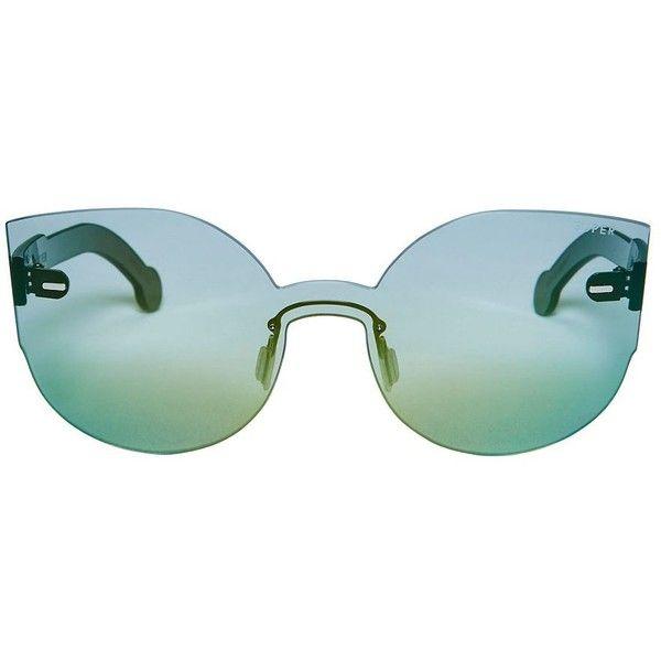 SUPER Sunglasses Women's Tuttolente Lucia Sunglasses ($238) ❤ liked on Polyvore featuring accessories, eyewear, sunglasses, green, green glasses, retrosuperfuture, retrosuperfuture sunglasses, green sunglasses and retrosuperfuture glasses