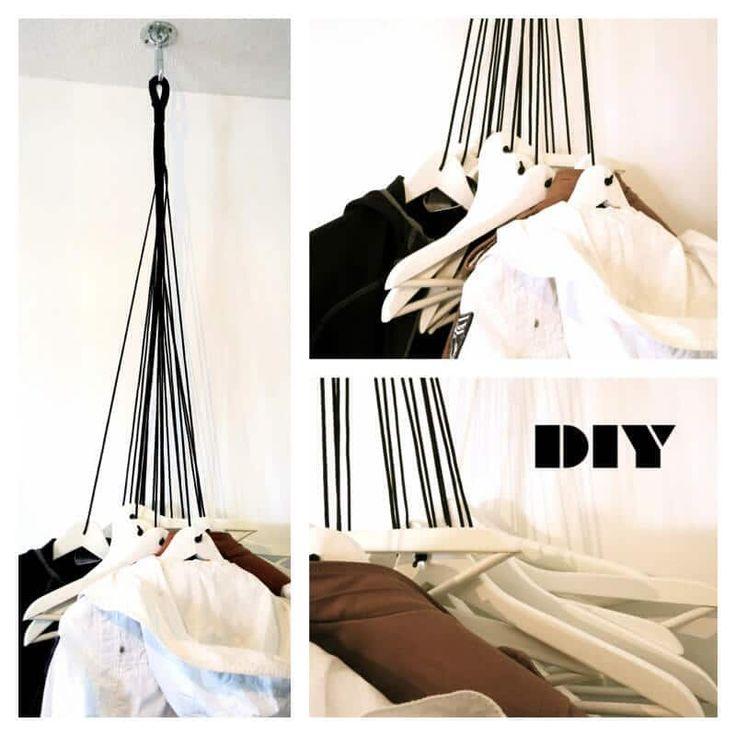 Ihr braucht: – 20 Hosenbügel – einen Deckenhaken – 30 Meter Paracord 550 Seil in schwarz – Schere – Kerze – Metallsäge, Metallfeile – Bohrmaschine mit Holzbohrer – Schmirgelpapier, weißen Lack Kosten ca. 30 €, Zeitaufwand  So funktioniert es: … weiterlesen