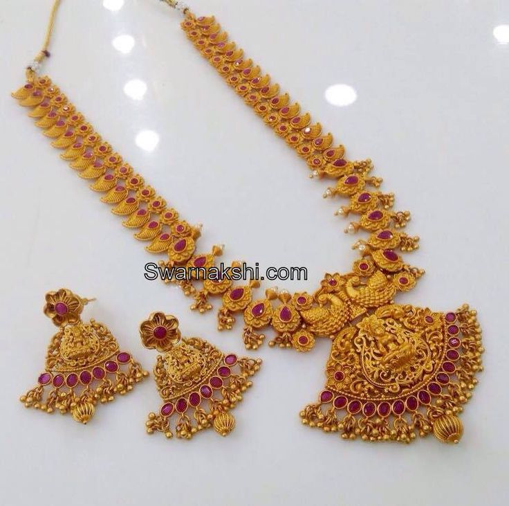 Beautiful South Indian Double Long Necklace Set: 523 Best Images About Short Necklace On Pinterest