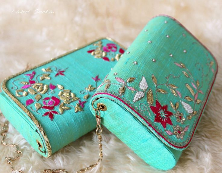 Keep Calm and Start Fresh!  The New Year is about to begin!  #Clutches #freshcolors #labelsneha #handcrafted #handmade #clutch #traditional #indianfashion #IndianDesigners
