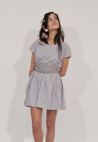 Shop online:  https://marketplace.asos.com/listing/dresses/girlie--romantic-spotty-dress/574140
