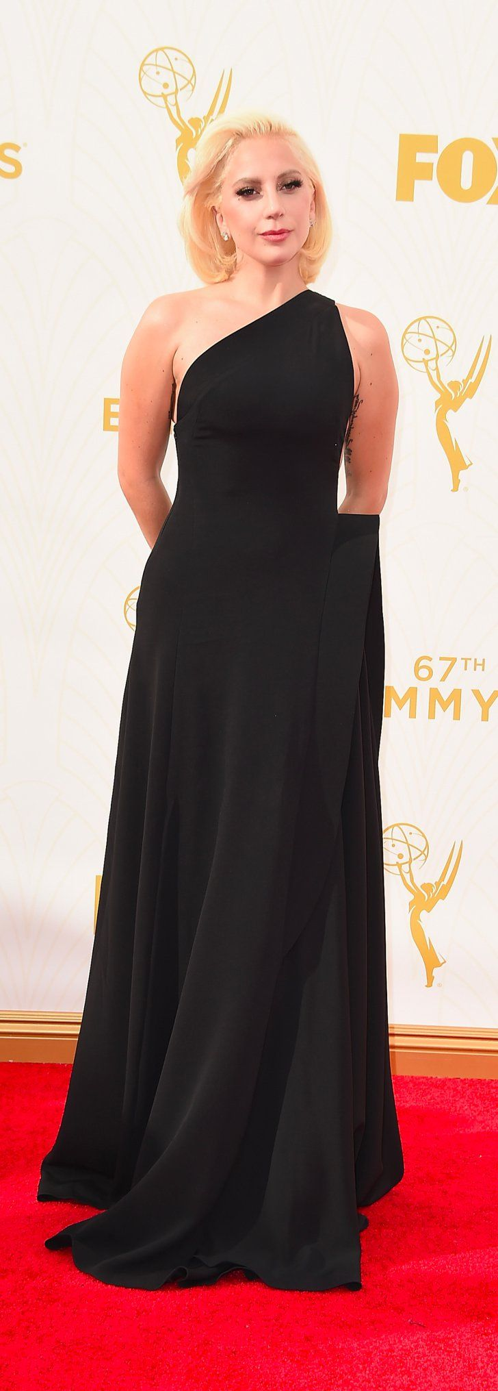 Pin for Later: Lady Gaga Is Barely Recognisable at the Emmy Awards