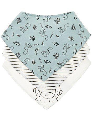 Lot de 3 bavoirs bandana Bébé fille - bleu gris à 7,00€ - Découvrez nos collections mode à petits prix dans notre rayon Pour les repas.