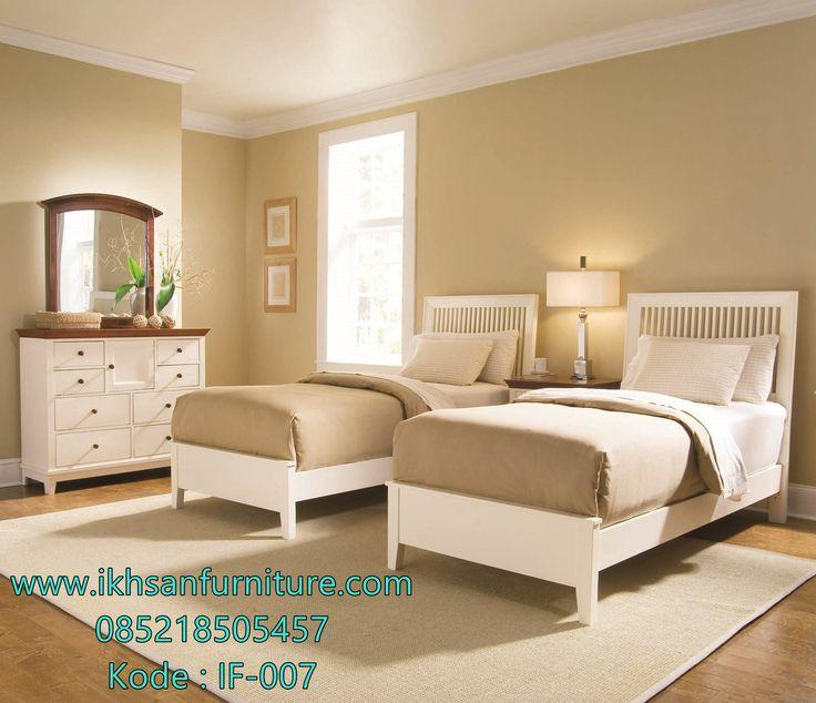 Jual tempat tidur anak kembar minimalis duco tempat tidur anak kembar minimalis terbuat dari bahan kayu